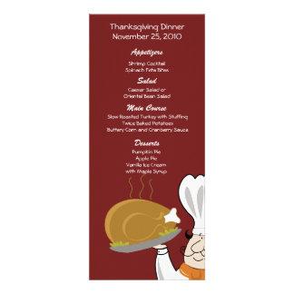 Thanksgiving Chef Turkey Day Customized Menu Invitation