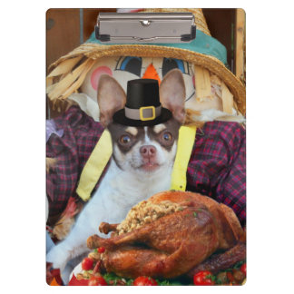 Thanksgiving Chihuahua dog Clipboard