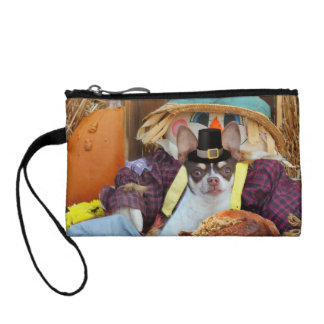 Thanksgiving chihuahua dog coin wallet