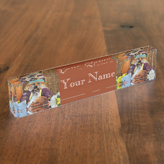 Thanksgiving Chihuahua dog Desk Nameplates