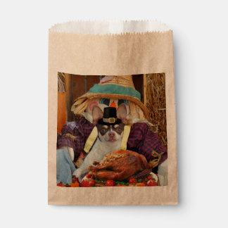 Thanksgiving Chihuahua dog Favor Bag