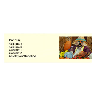 Thanksgiving Chihuahua dog Mini Business Card