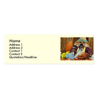 Thanksgiving Chihuahua dog Mini Business Card