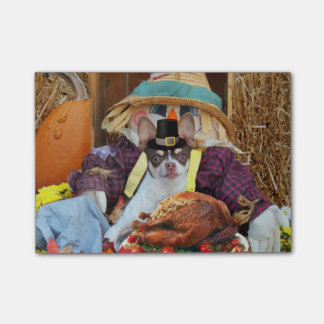 Thanksgiving Chihuahua dog Post-It Notes