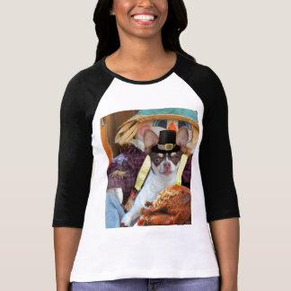Thanksgiving chihuahua dog tee shirt