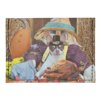 Thanksgiving chihuahua dog tyvek® card wallet