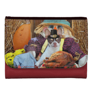 Thanksgiving chihuahua dog wallets for women
