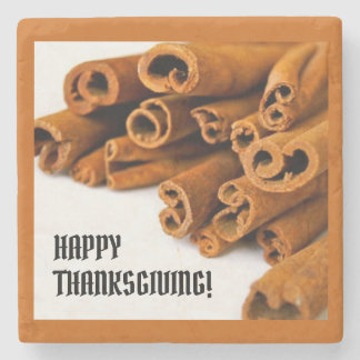 Thanksgiving Cinnamon Sticks Marble Stone Coaster
