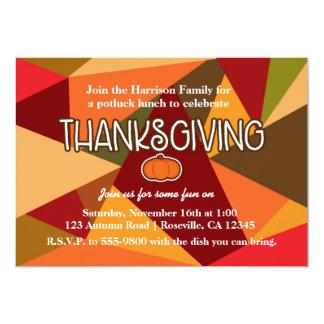 Thanksgiving Colored Triangles Fun Fall Invitation