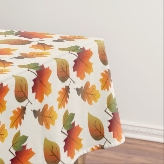 Thanksgiving Colorful Autumn Leaves Table Cloth Tablecloth