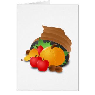 Thanksgiving Cornucopia Card