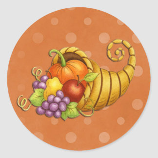 Thanksgiving Cornucopia Fall Stickers