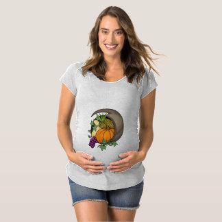 Thanksgiving Cornucopia Maternity T-Shirt