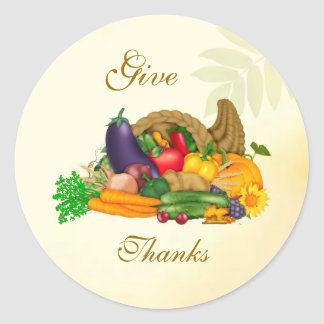 Thanksgiving. Cornucopia Sticker