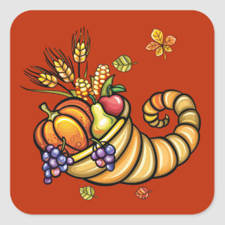 Thanksgiving Cornucopia Sticker - SRF