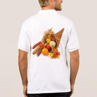 Thanksgiving Cornucopia White Polo Shirt