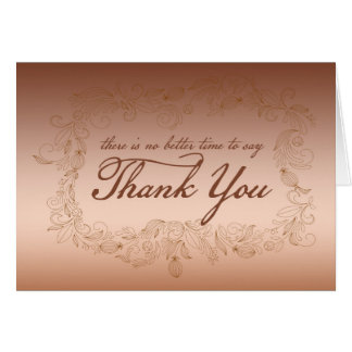 Thanksgiving Corporate Thank You Card