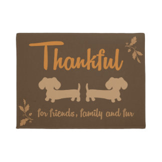 Thanksgiving Dachshund Wiener Dog Autumn Doormat