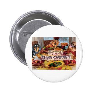 Thanksgiving Dachshunds Buttons