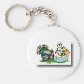 Thanksgiving day 3 keychain