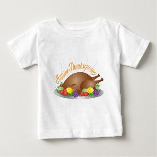 Thanksgiving Day Baked Turkey Dinner Illustration Baby T-Shirt