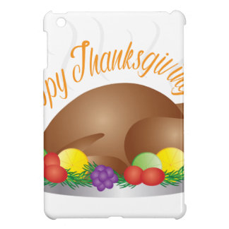 Thanksgiving Day Baked Turkey Dinner Illustration Case For The iPad Mini