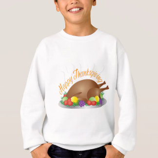 Thanksgiving Day Baked Turkey Dinner Illustration Sweatshirt