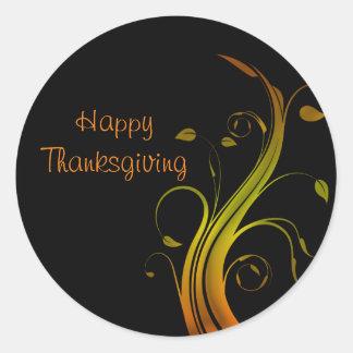 Thanksgiving day classic round sticker
