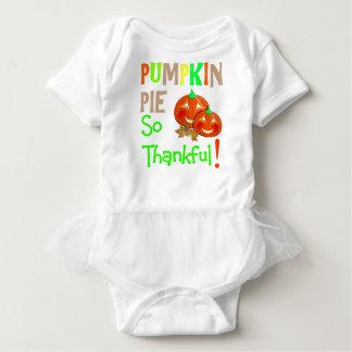 Thanksgiving Day Cute Pumpkin Pie Thankful Novelty Baby Bodysuit