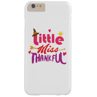 Thanksgiving Day Kids Little Miss Thankful Barely There iPhone 6 Plus Case