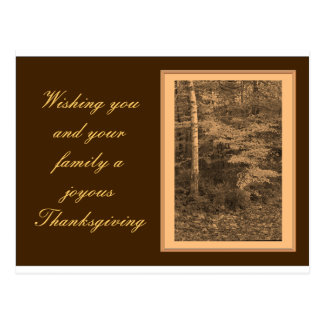Thanksgiving Day Photo Card Postcard
