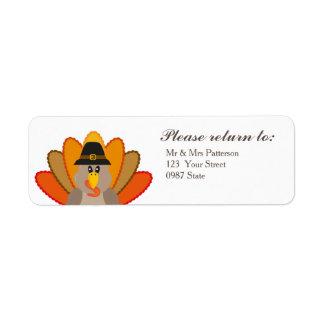 Thanksgiving day return address label