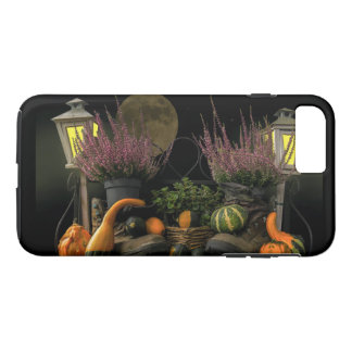 Thanksgiving Day Scene With Bench and Fall Harvest iPhone 8 Plus/7 Plus Case