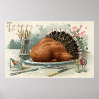 Thanksgiving DayA Dressed Turkey for Dinner Poster