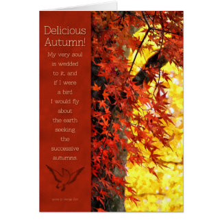 Thanksgiving - Delicious Autumn Foliage and Verse Greeting Card