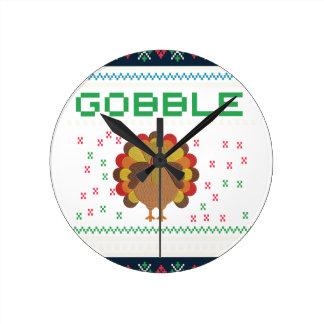 Thanksgiving design round clock