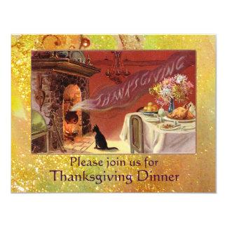 """Thanksgiving Dinner 4.25"""" X 5.5"""" Invitation Card"""