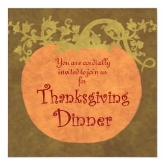 Thanksgiving Dinner Card