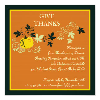 Thanksgiving Dinner Harvest Invitation