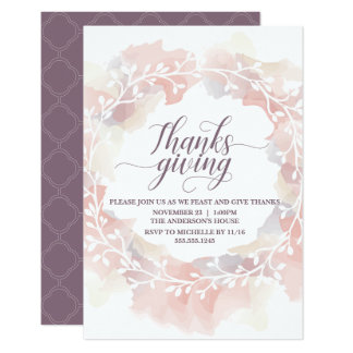 Thanksgiving Dinner Invitation - Customize