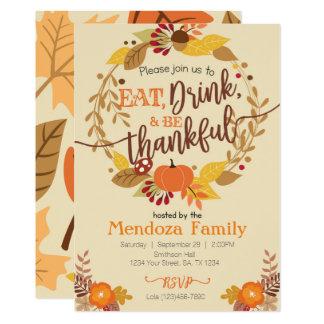 Thanksgiving Dinner Invitation, Feast Invitation