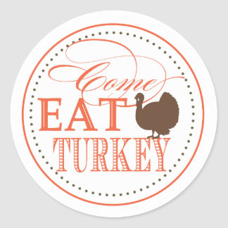 Thanksgiving Dinner Invitation Seal