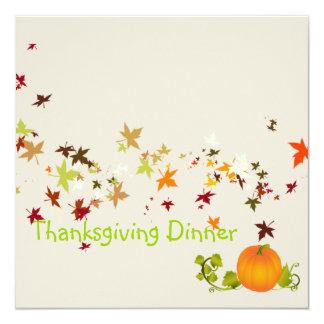 Thanksgiving Dinner, maple leaves Card