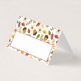 Thanksgiving Dinner Place Card | Autumn Acorns