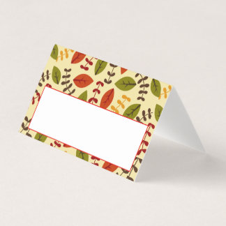 Thanksgiving Dinner Place Card | Cute Fall Leaves