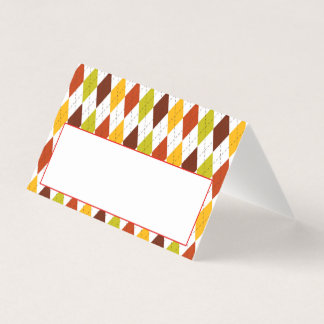 Thanksgiving Dinner Place Card   Fall Argyle