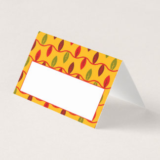 Thanksgiving Dinner Place Card | Fall Leaves