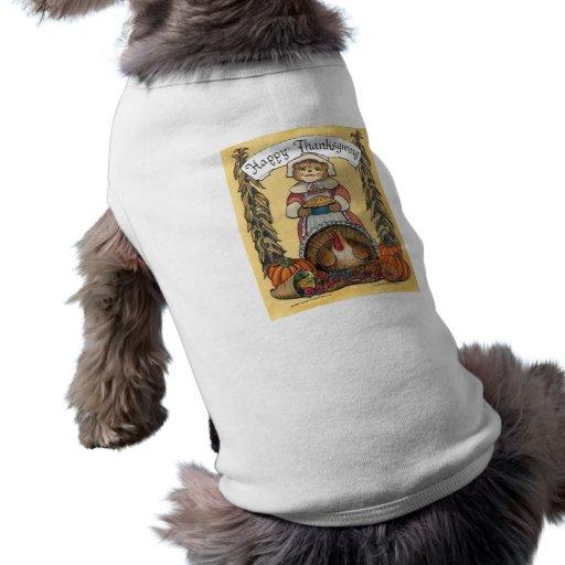 Thanksgiving Dog Shirt - Female Pilgrim