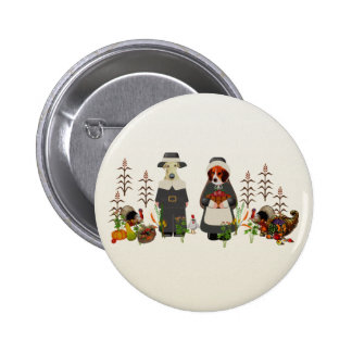 Thanksgiving Dogs 2 Inch Round Button