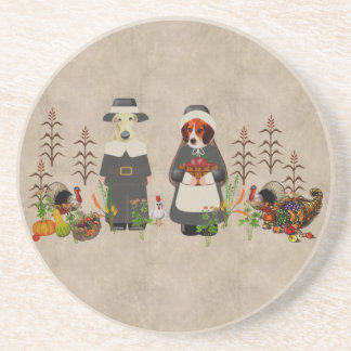 Thanksgiving Dogs Coasters